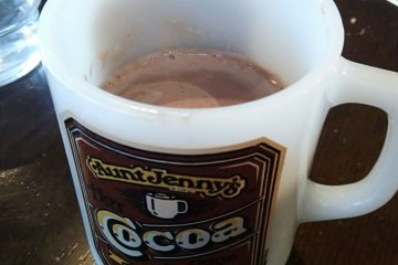 <p>The menu isn&#39;t extensive, but there&#39;s room for a nice cup of hot chocolate</p>