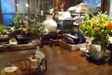 <p>The cafe is half-filled with plants</p>