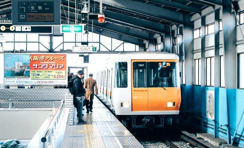 Osaka Port train heading towards Ikoma