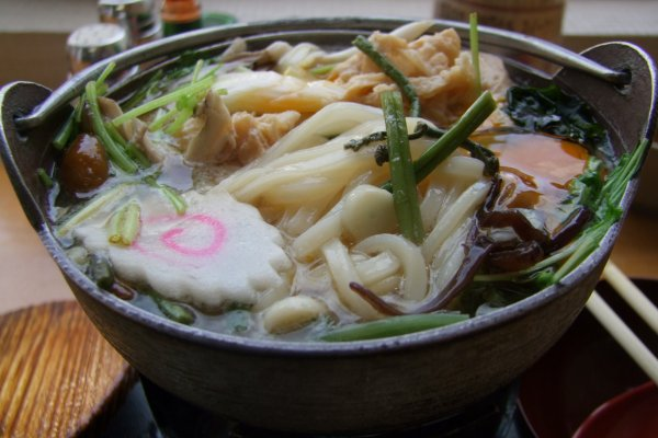 Delicious bowl of yuba udon