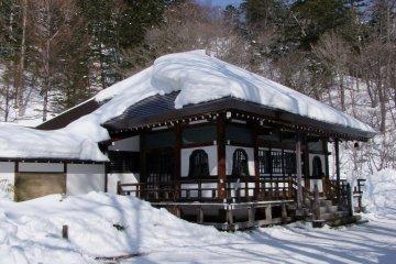 <p>Near the hot spring fountainhead</p>