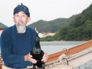 A cormorant master and his cormorant