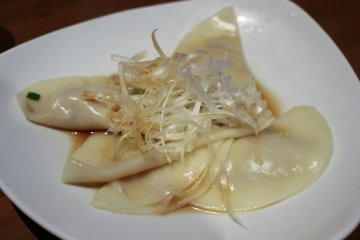<p>Boiled gyouza</p>