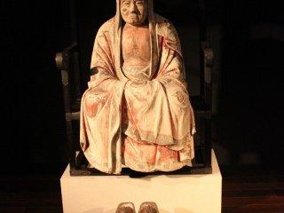 達磨大師像。作者、製作年ともに不詳。修復年安永3(1774)年