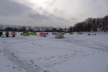 <p>The frozen&nbsp;Barato&nbsp;River</p>