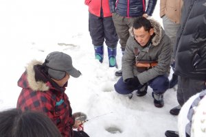 Ice fishing demonstration