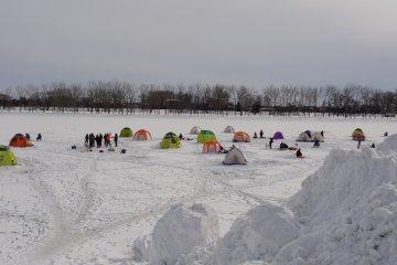 <p>The frozen Barato River</p>
