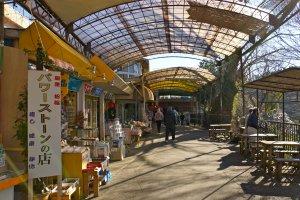 Vous pouvez trouver de nombreux souvenirs du Mont Fuji dans ces boutiques à proximité des chutes Shiraito