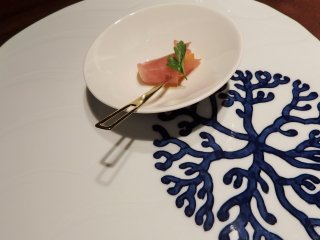 Our dinner set in January. This is the 'inizio', or beginning - to get your taste buds watering.