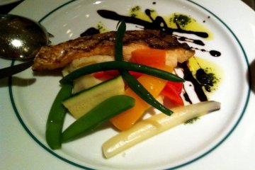 """grilled local """"tai"""" Japanese fish"""