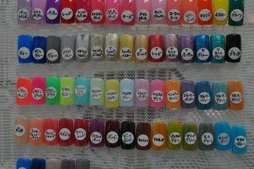 <p>Parfait gel nail colors</p>