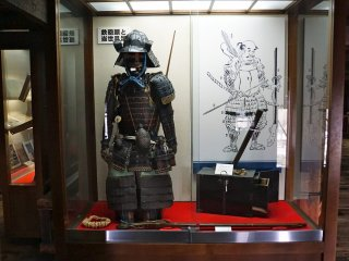 Samurai armor on display