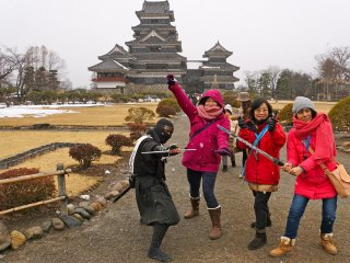 If you're lucky, you'll find a ninja along the main pathway. Act swiftly for a photo opp!