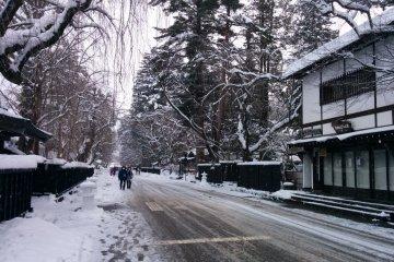 <p>Гляжу на главную улицу, загибнотизорованный зимним очарованием</p>