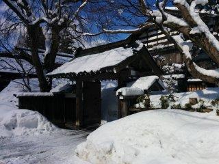 An entrance to one of the bukeyashiki samurai houses