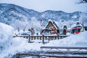The beautiful landscape of Shirakawa-Go.