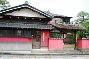 Entrance of Somaro traditional maiko teahouse