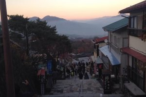 Sunset on the Steps of Ikaho Town