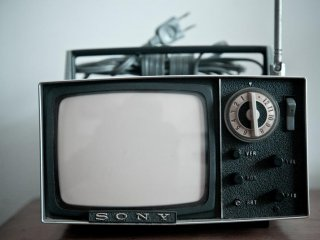 The houses all come with appliances and furnishings from times gone by. Here we can see an old Sony television set.