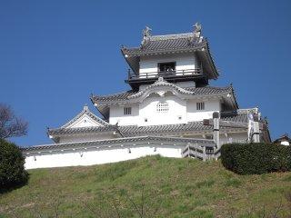 Le château se situe au sommet d'une colline, surplombant ainsi la ville
