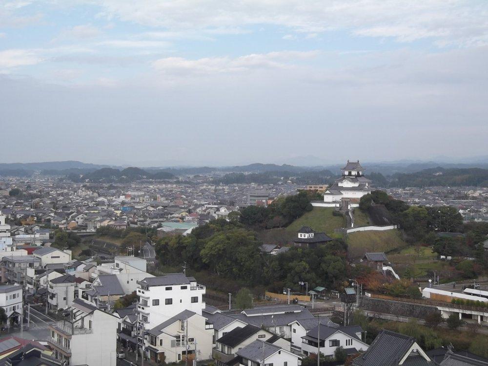 Vue sur le château depuis mon hôtel