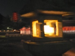 Lantern and the shrine, and Daisho-in Temple