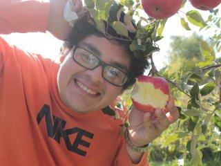 Tôi đã được mẹ của sếp chỉ cho cách mà người dân Aomori thường ăn táo. Đó là ăn trực tiếp từ trên cây. Cách đó đem lại cảm giác thật tuyệt