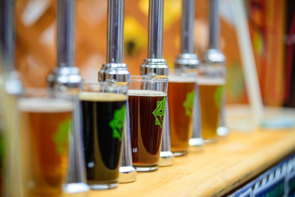 Rangée de bières