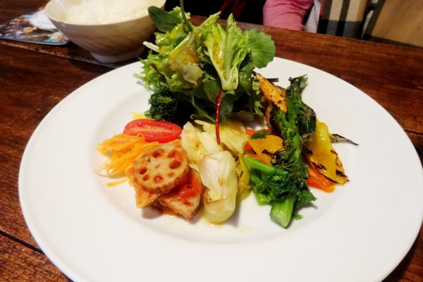 The vegetable plate lunch at La Ceiba
