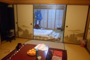 Chambre d'une maison d'hôtes d'Asuka.