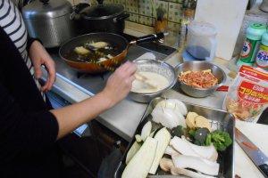 Préparation des tempuras.