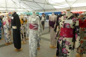 Displays of yukata