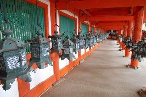 Les lanternes du cloître de Kasuga-taisha