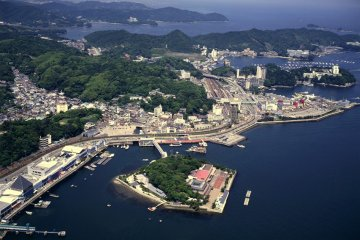 <p>Mikimoto Pearl Island viewed from above</p>