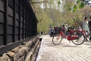Visit the samurai houses at Uchimachi by bicycle.
