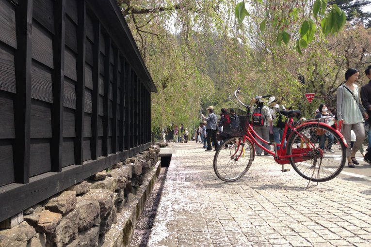 Cycling in Kakunodate