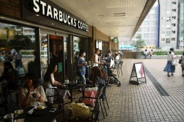 Enjoy a relaxing coffee break at Starbucks