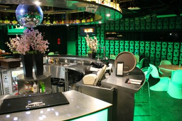<p>At the island counter bar</p>