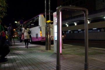 <p>저렇게 생긴 버스를 타게 됩니다. 제가 탈 버스 기다리는 동안 찍은 다른 버스</p>