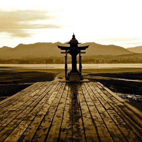 Itsukushima Shrine at Low Tide