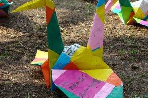Large crane decoration