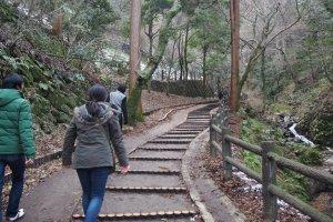 ทางเดินขึ้นเขาเดินง่ายครับไม่ได้สูงชันเท่าไหร่ พื้นไม่ลื่น ด้วยครับ แต่ยังไงผู้สูงอายุต้องระวังหน่อยครับ