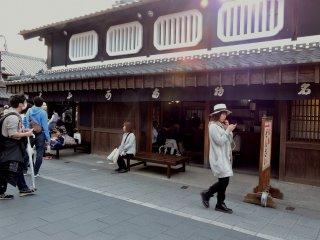 Akafuku's store in Okage Yokocho