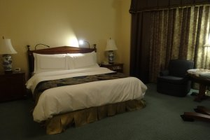 The rooms are incredibly spacious with plenty of room to relax and spread out your luggage