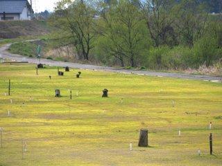 말레 골프장의 푸른 잔디밭