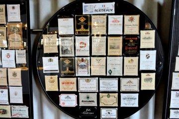 <p>Wine labels from Bordeaux</p>