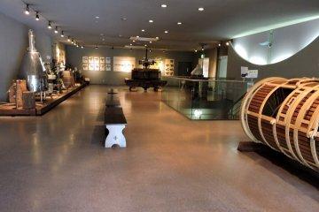 <p>Small museum showcasing wine-making equipment</p>