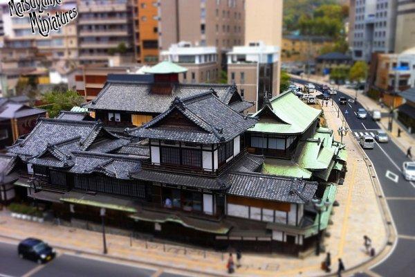 Dogo Onsen Honkan in miniature