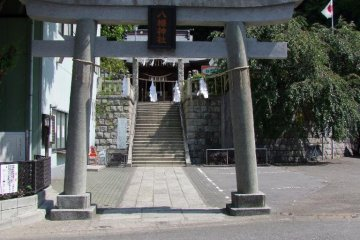 In the same neighborhood you can also experience a visit to a typical, small but handsome local shrine, Negishi Hachiman Jinja  (根岸八幡神社) , with a large gate at the entrance (torii).