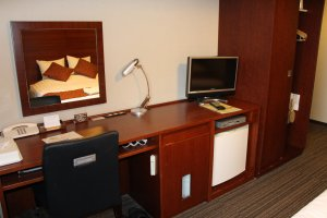 The room is well-equipped, and provides everything you need for work